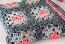 Granny in a square / Blankets crochet and knit
