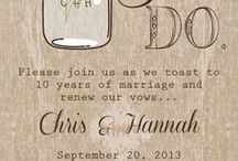 Vow Renewal / 10 year anniversary - Vow renewal ceremony