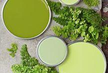 Palette: Greenery / Pantone color of 2017 : Greenery