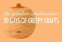 "The Spindlers Spooktacular: 30 Days of Creepy Crafts! / Calling all creepy crafting queens! We asked GL girls to get inspired by ""The Spindlers"" from Lauren Oliver, then share their Halloween craft ideas. Now it's your turn to get inspired! We've got 30 days of creepy crafts below—and you can make 'em all for spooky surprises this entire season. http://thespindlersbook.com/"