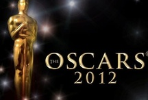 On the red carpet at the 2012 Oscars
