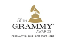 On the red carpet at the 2013 Grammy Awards
