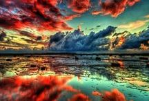~ClOuDs & SkIeS~ / Beautiful Sunrises, Sunsets and Midnight Skies all over the World!   / by ☮💕❁ Angie Tate ☮💕❁