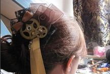 Epic Hair (steampunk/Victorian) / Barrettes, clasps, fascinators & more of the steampunk/victorian influence. / by Lish Cooper