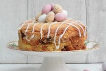 Easter Cakes & Bakes / Easter cakes from Bunny butts to hot cross buns. All Easter themed food which can be enjoyed any time of year.