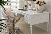 Home: Office & Craft Spaces / Inspiration for home offices & craft rooms.