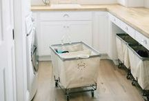Home: Laundry Spaces / Inspiration for laundry & utility rooms.