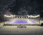 Winter Backyard Skating Rink / I've always dreamed of a backyard skating rink. And to help my handy hubbie get started, I pulled some research of other experts to make this happen!