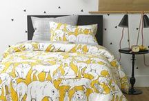 Grey and Yellow Nursery / Get inspiration and ideas on how to design a modern nursery and kids room in neutral grays and yellows.