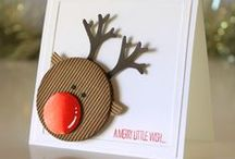 Christmas Cards - hand made with Stampin' Up! / Christmas cards are the most fun cards of the year to make. I'm pinning like crazy in this board for project ideas the whole year long.