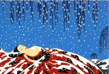 "December 2012 Art Bead Scene Blog Challenge / ""Sleeping Beauty"" by Erte truly celebrates the winter and holiday palette ! Pin away your favorite beads and supplies for the holiday season..."