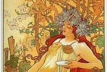 September 2013 - Art Bead Scene Blog Monthly Challenge / The transitional period between summer and fall, is a time to reminisce the cyclical seasons and celebrate their beauty... This decorative panel by Alphonse Mucha, 1896, oil painting is so timely - to draw inspiration this month :)