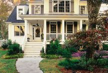 {home outside} / Porches, patios, gardens and houses