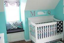 Aqua, Blue, and Baby Too / aqua and blue nursery decor and designs for baby.