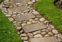 sticks and stones / stones, rocks, bricks, trees, twigs, sticks and the like
