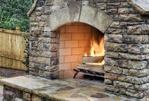 DIY outdoor built-in bbq