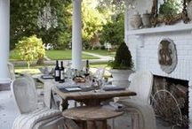 Outdoor Living/Dining Areas / Patti Johnson Interiors can design the ultimate outdoor living or dining space for your home. Http://pattijohnsoninteriors.com / by Patti Johnson Interiors