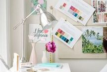 Workspace / Beautiful home offices for bloggers + business owners