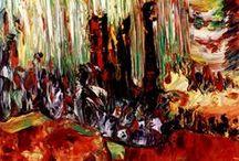 """EXPRESIONISMO Abstracto de CRIS ACQUA / Pinturas al óleo sobre tabla en pequeño formato, realizadas con el método de """" pintura visceral"""" http://www.crisacqua.com / by Cris Acqua"""