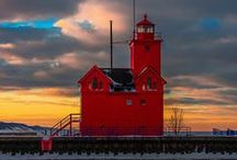 Big Red Lighthouse / Big Red Lighthouse is one of Holland's most famous features! Enjoy this round-up of her stately beauty! / by Holland Michigan