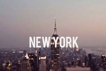 """NYC / """"If the city never sleeps then that makes two."""" / by Ellen Park"""