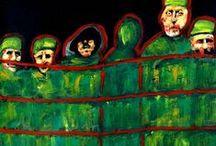 ARTISTAS y Guerras. / La guerra siempre influye , directa o a traves de seres queridos. Sus horrores y fantasmas hacen huellas profundas en el corazón. Los artistas no estan excluidos. Cris Acqua rinde homenaje a Kathe Kollwitz.  http://www.artmajeur.com/es/artist/acquacris/collection/guerras-homenaje-a-kathe-kollwitz/1590013