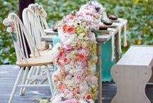 Floral Table Runners / Floral table runners...perfect for a top table at a wedding