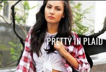 Pretty In Plaid / Plaid shirts and apparel for ladies / by G-Stage | gstagelove.com