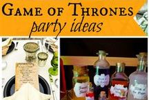 Game of thrones name day/premier party / The premier of Game of Thrones usually falls very close to my birthday! I WILL DO THIS... no excuses!
