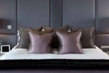Bedroom bliss / The bliss point of getting into a delightfully comfortable bed. All bedrooms should soothe and delight. Stylish, contemporary bedroom design. All the details from headboards, bedside tables, bed linen and pillows. Styling your bedside table like a pro. You too can sleep tight in a beautiful bedroom and make sure you get a restful nights sleep.