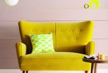 Yellow interiors = Sunshine on the inside / Yellow inspiration for your home. There is nothing mellow about these yellow home interiors items. It's 100% sunshine and feel good. Thats why every home needs yellow - like me I have yellow doors in my house!