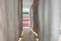 Hallway / transitional spaces that pack punch and drama