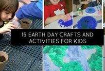 Earth Day and Earth Hour Eco-Friendly Crafts, Books and Snacks / Earth Day and Earth Hour- focused crafts, snacks and activities - recycled materials, nature celebration, fun family activities