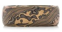 Mokume Gane Rings / No two mokume gane rings are the same. Used hundreds of years ago by warriors on their sword handles and sheaths, mokume gane is the perfect way to express your inner strength and individuality through molded metals.