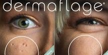 Before and Afters- Dermaflage / Dermaflage is the best makeup for covering scars and wrinkles! Check out Dermaflage before and afters to see how this amazing product conceals scars and frown lines in under 3 minutes!