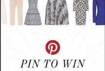 PIN TO WIN Your Reiss Holiday Wardrobe / Summer's almost here, so create your capsule summer wardrobe on Pinterest and you can win a £1000 / $1500 Reiss shopping spree. Click the instructional pin for more details. / by REISS