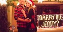 Holiday Proposal Ideas / If the thought of getting engaged over the holidays has crossed your mind even once, this board is for you: inspiration for holiday proposals and the ring to go with the big question.