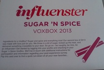 Influenster Sugar 'N Spice Vox Box 2013 /  A collection of pins based around the Sugar 'N Spice Vox Box from Influenster.
