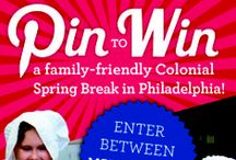 Pin it to Win it-Colonial Spring Break in Philadelphia / We'd like you to enjoy a family-friendly colonial-style Spring Break in historic Philadelphia—on us! That's right, we're offering an epic spring break experience to one lucky Pinterest follower and their family, that includes a complimentary one-night stay at the Holiday Inn Express Midtown, a private tour of the National Constitution Center, a special tour of Independence National Historical Park, four tickets to the Betsy Ross House, and $100 to dine at City Tavern!  / by National Constitution Center