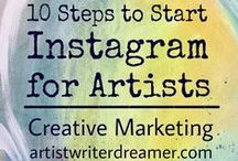 Tips for Social Media / Tips to make the most of social media.  Best ways to tap into Pinterest, Instagram, Facebook and Twitter for your small business and free lance artists.
