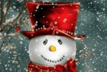I always smile at Snowmen / I can't even help myself, I just do.   [I like to put mine out AFTER all of the Christmas decorations are taken down.]