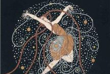 Art Deco / Art Nouveau / I love all things Art Deco. I feel it was one of the most creative trends in modern history, and that Erte was the master of the form. I am also very fond of Art Nouveau!