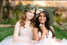 White, Blush, and Gold / Romantic, feminine style for weddings / by Ju.Lee Collection