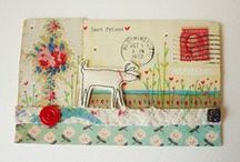 Arts & Crafts - Collages & Mixed Media / Bits and pieces of paper, fabric and trims = beautiful creations. / by Marie E