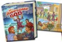 """StoryBook Bible / """"My Awesome God"""" Bible Storybook This new 416-page Bible Storybook helps parents, grandparents, and teachers explain God's Word in all its fullness. From Genesis to Revelation, My Awesome God Bible Storybook invites readers, young and old, to discover that God is truly awesome!"""