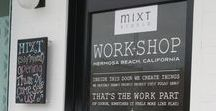 MIXT // inside our WORK+SHOP / A sneak peek at projects in the works | behind-the-scenes studio life | happenings in our hermosa beach WORK+SHOP