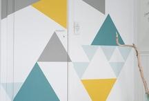 Tid for kontraster: Geometriske mønstre / Årets første trender byr på KONTRASTER i form at farger og glansgrader. Her har vår gjesteblogger Ingrid laget lekre kontraster med vårens farger fra LADY i geometriske mønstre.