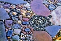 Pebble Mosaics, seashells, etal / by Robin Markham