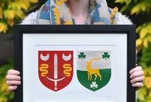 Wedding Gifts / Looking for a personalised and unique gift for the wedding you are attending? We got you covered!  We hand paint family crests with a modern twist, making for the perfect handmade wedding gift. https://www.etsy.com/ie/shop/PaintedClans
