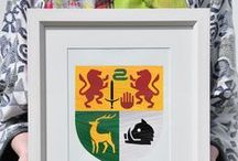 Family Crests / Coat of Arms / We hand paint Irish family crests with a modern twist. Celebrate your Irish Pride and Reconnect with your Irish Roots with a symbol of your Family history.  https://www.etsy.com/ie/shop/PaintedClans